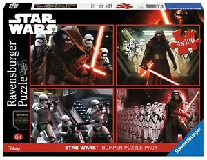 PUZZLE-STAR-WARS-RAVENSBURGER-06850-4x100-Piezas-Pieces-Star-Wars-Disney-Jigsaw
