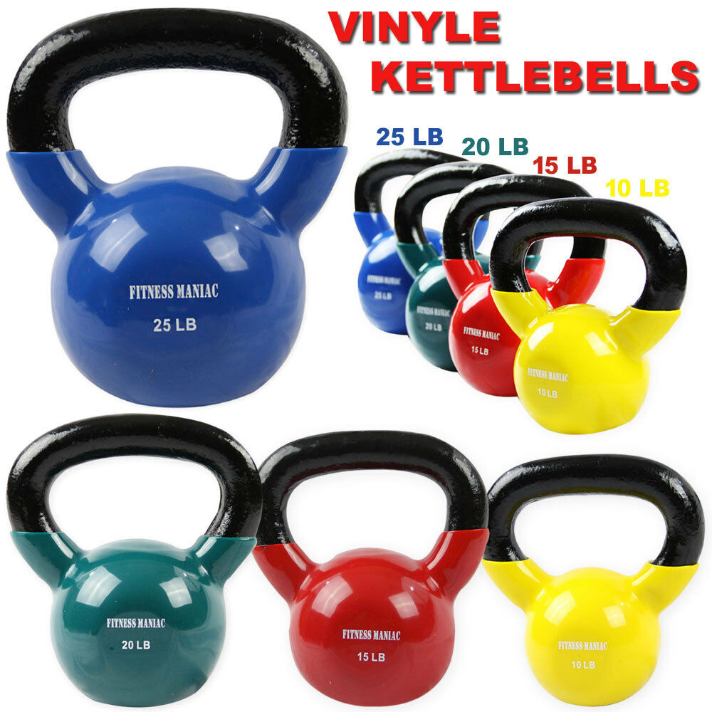 Vinyl Coated Kettlebell For Cross Training Swing 10  15 lb 20 lbs 25 Pound  save up to 30-50% off