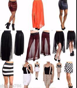 ed231e344525c Lot 10 Skirts Skorts Mini Maxi Sexy Pencil Tiered Boho Casual Rave ...
