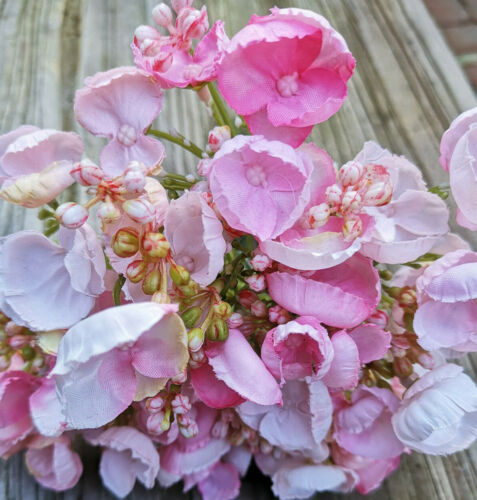 9 Stiele Hortensien über 60 Blüten Rosa Grün Landhaus Blüten Kunstblume Landhaus