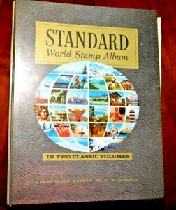 CatalinaStamps-World-Wide-Collection-in-Harris-1973-Album-600-Stamps-Lot-D144