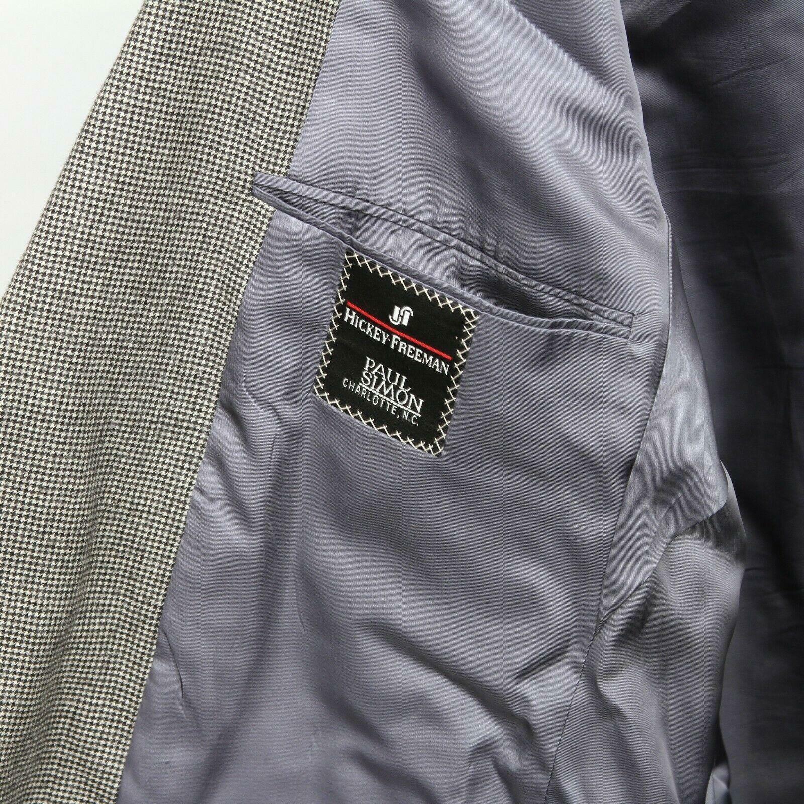 Hickey Freeman Paul Simon Gray White Black Wool H… - image 5