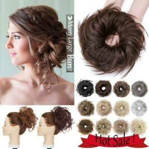 US Messy Thick Messy Bun Scrunchie Hair Piece Updo Cover Hair Extension as Human | eBay
