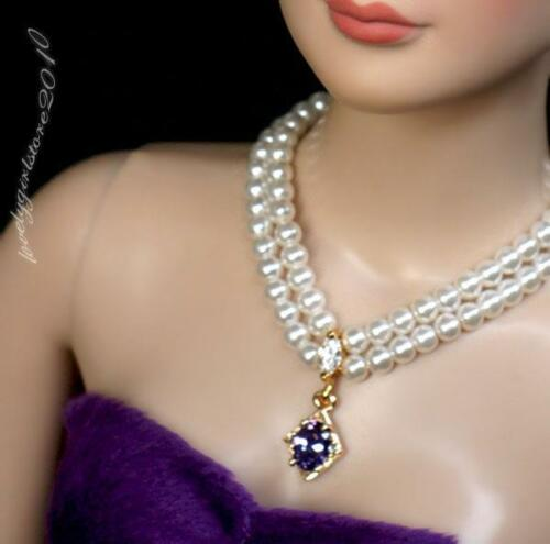 "Fashion zircon Necklace and Earring Jewelry Set for 22/"" Tonner Tyler doll 040C"