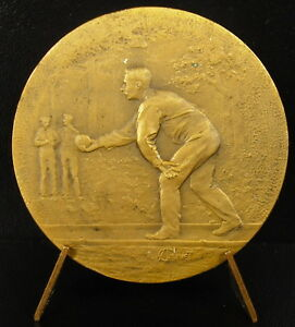 Medal-Player-of-Boules-C-1930-Ball-Bowling-Sport-Bowler-Medal