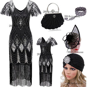 Vintage-1920s-Costume-Flapper-Gatsby-Party-Prom-Evening-Cocktail-Dress-Plus-Size