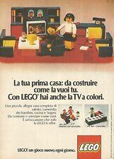 X4695 Con LEGO hai anche la TV a colori - Pubblicità 1975 - Advertising