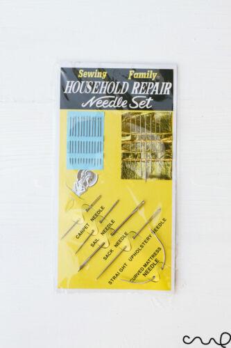 Kit de couture famille ménage réparation x 25 set aiguille sac craft rembourrage TVA voile