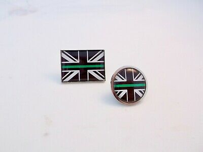 Thin Green Line Star Of Life Union Jack Tie Pin Lapel Badge Ambulance Paramedic