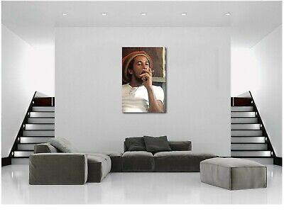 Bob Marley Smoking Joint Canvas Print Art Home Decor Wall Original Print