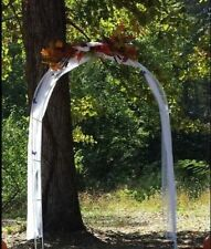 Walkway Arch Garden Archway White 7ft Metal Wedding Decorative Arbor NEW