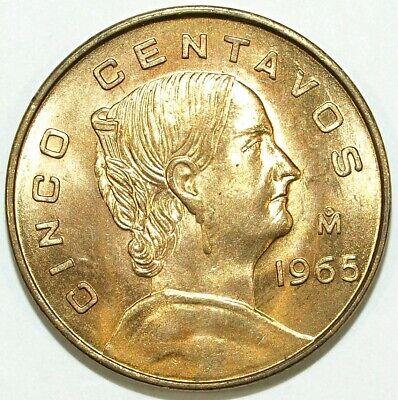 1965 cinco centavos coin