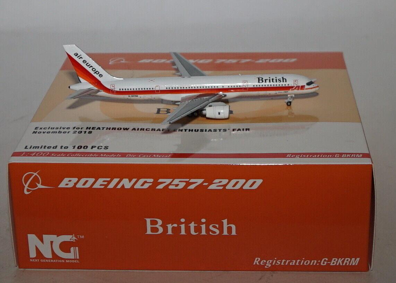 NG Model 53076 Boeing 757-236 British Airways G-Bkrm in 1 400 Maßstab