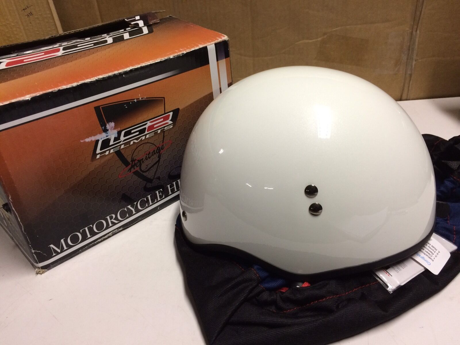 Helmet  LS2  Pearl White Size XS Model HH566  cost-effective