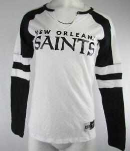 319cc00b0 New Orleans Saints NFL Women s Majestic Long Sleeve V-Neck White ...