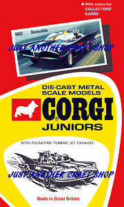 Corgi-Juniors-Husky-Batman-Batmobile-1002-Poster-Advert-Leaflet-Shop-Sign-1967