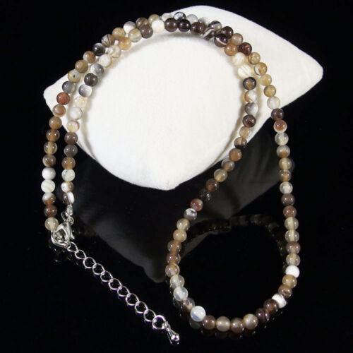 natural gemstone beaded necklace 4mm jasper opal agate quartz amethyst crystal