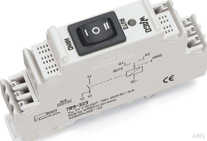 WAGO Schaltrelais-Baustein 24VDC,1S, Hand 789-323   Lassen Sie unsere Produkte in die Welt gehen