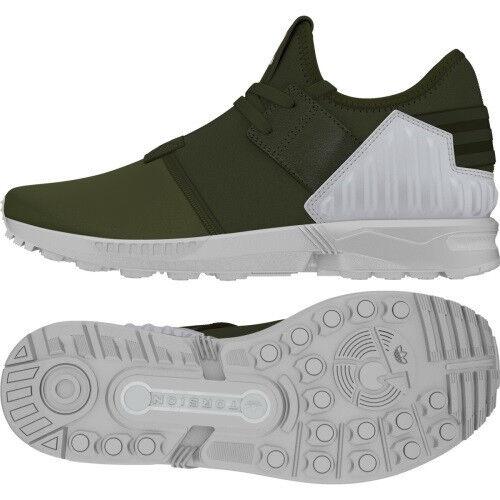 adidas ZX Flux Plus khaki Schuhe Sneaker Weiß S79062 NEU OVP Selten RAAR