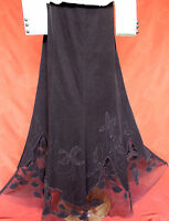 Elegant Per Una Long Brown Flared Skirt 16l Riding Mistress Edwardian Chic