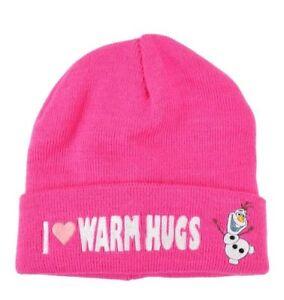 Disney-Frozen-Olaf-I-Love-Warm-Hugs-Pink-Beanie-Cap-Hat