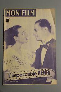 Details about My movie-l impeccable henri no  117 17 nov 1948 Claude  Dauphin marcelle Derrien- show original title