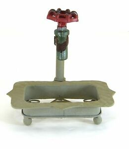 """Creative Co-Op 7"""" Rustic Iron Soap Dish with Faucet"""
