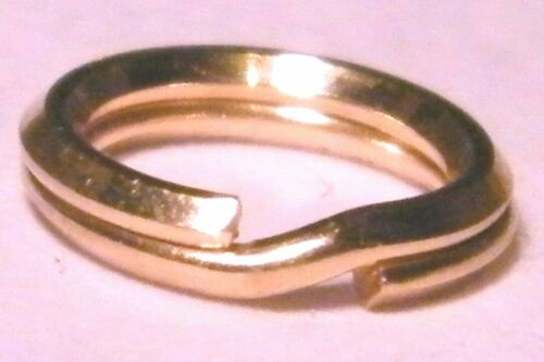 9ct Rose Gold Split Ring 7mm Easy To Use Work Like a Keyring-Great for Charms
