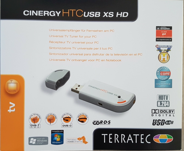 TV Tuner, Terratec, God, Cinergy HTC USB XS HD Digital…