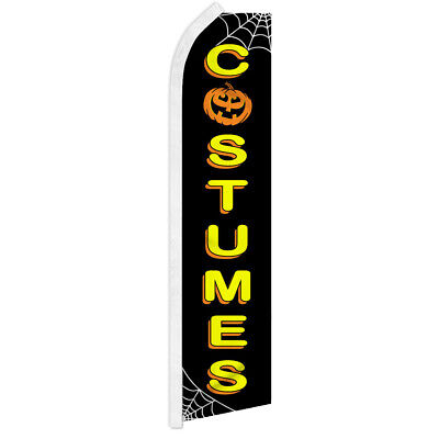 HALLOWEEN GHOSTS SUPER FLAG Advertising Feather Swooper Bow Banner Flutter