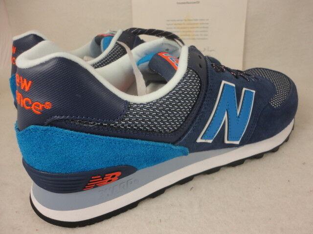 New Balance 574, ML574UTA, Navy Blue / Blue / Red, Suede, Lifestyle, Taglia 11