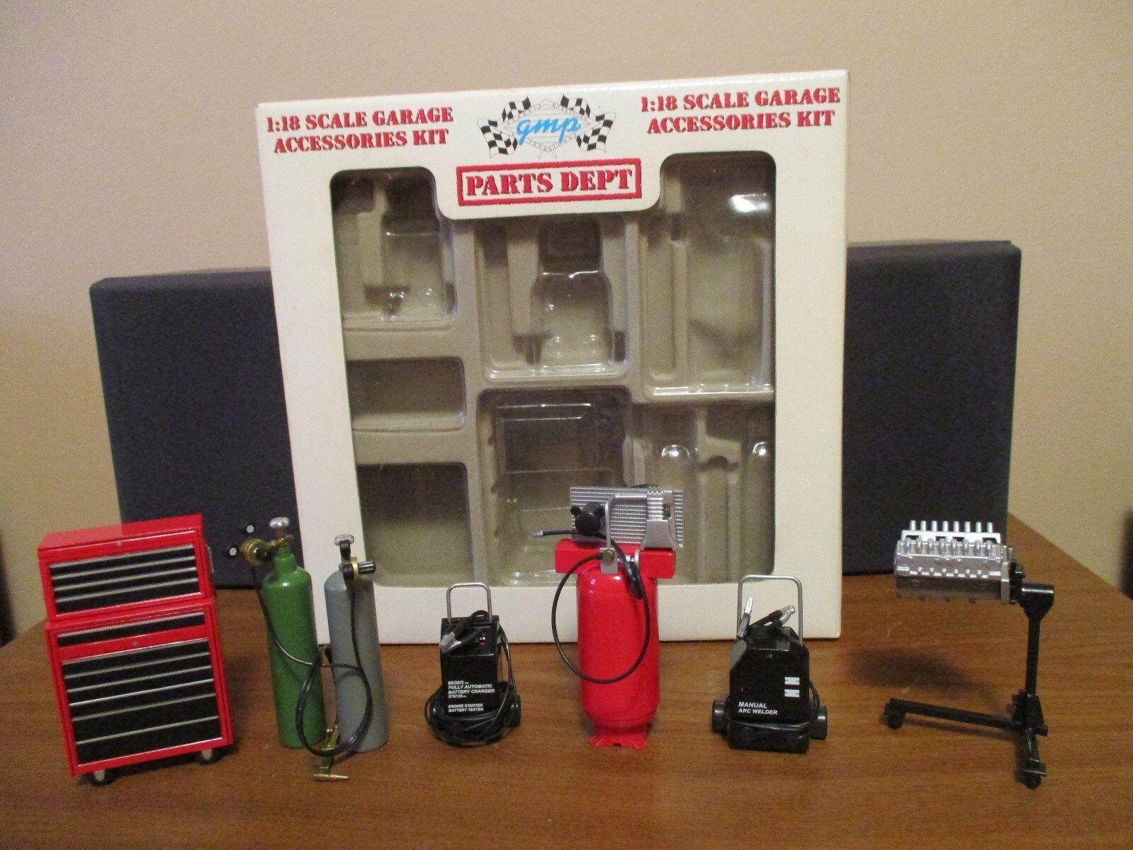 1 18 Scale Die Cast Accesorios GMP garaje Accesorios Kit Menta en caja, difícil de encontrar