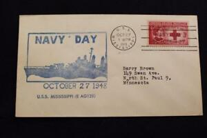 Navale-Cover-1948-Nave-Cancel-Marina-Giorno-Marchio-Uss-Mississippi-EAG-128