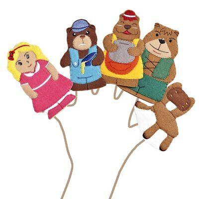 Childrens School Storytime Set 5pc Goldilocks /& 3 Bears Story Hand Puppets Set