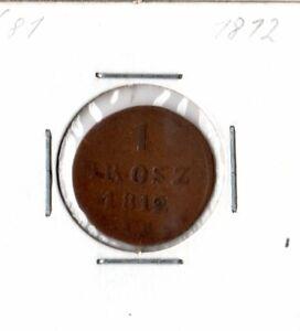 Polen, Münze 1 Grosz - 1812 - Uetze, Deutschland - Polen, Münze 1 Grosz - 1812 - Uetze, Deutschland
