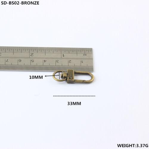 10-500pcs Swivel Lobster Clasps Clips Snap Hook Bag Craft Handbag Key Accessory