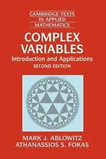 Complex Variables : Introduction And Applications 2nd Edition