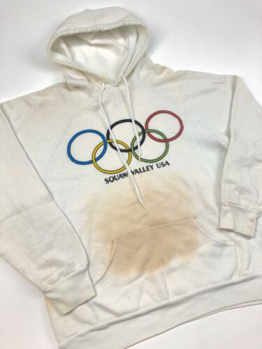 Set in Sleeve Pullover Hoodie Olympics Vintage Men