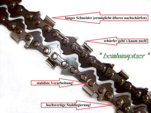 Kettensäge Dolmar ES4A passende Sägekette  35 cm 3//8x1,1  52 Treibglieder 2 x