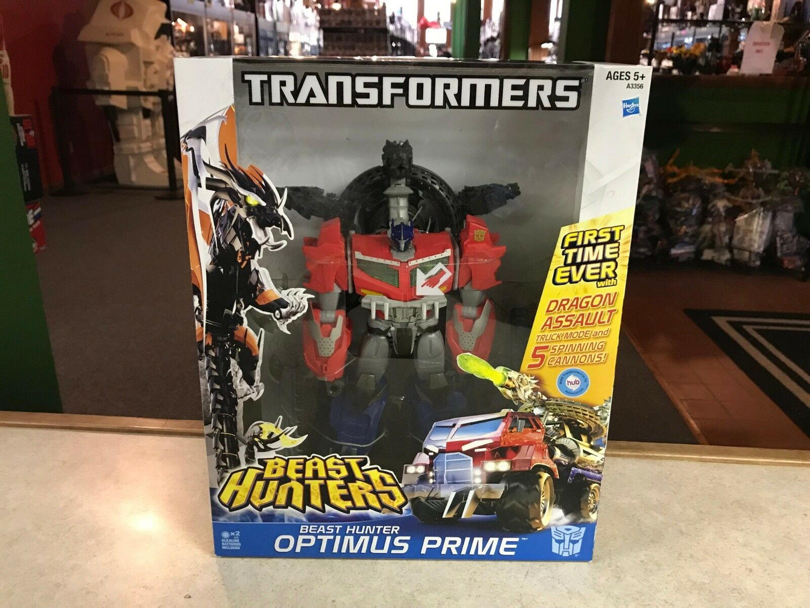 2013 Transformers Prime Beast Hunters Leader Optimus Prime Dragon Assault NIB