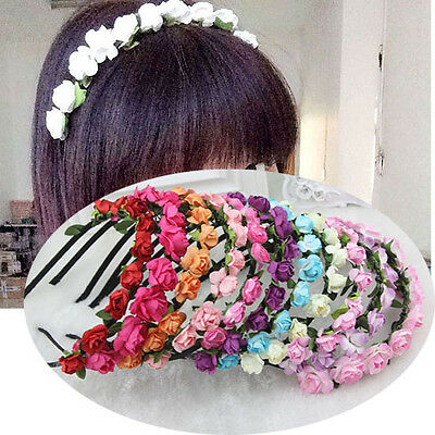 Women Beach Hair Head Jewelry Style Flower Headband Accessories Colors