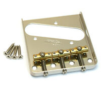 Wilkinson/gotoh Swivel Brass 3-saddle Bridge For Fender Tele® Tb-5128-001