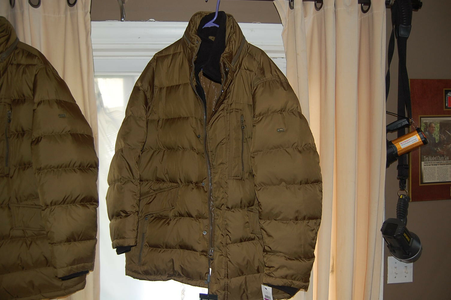 Marc New York Mashpee Puffer Coat with Attached Bib new  size XL