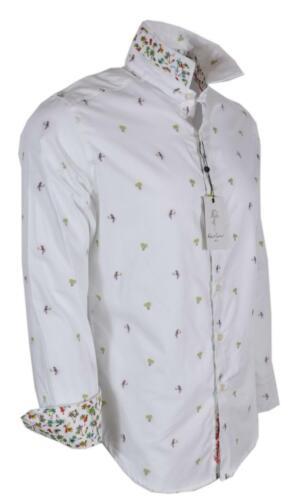 NEW Robert Graham $248 PALM LEAVES Palm Tree Parrot Print Classic Fit Shirt