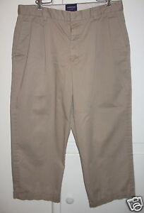 ARROW USA 1851 Mens Pleated Cuffed Khaki Pants Slacks Size 33 | eBay