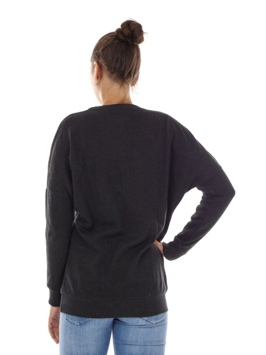 O& 039;Neill Suéter Suéter Suéter Del Sudor Top Negro Pacífica Pinos Cuello rojoondo Impresión cf223e
