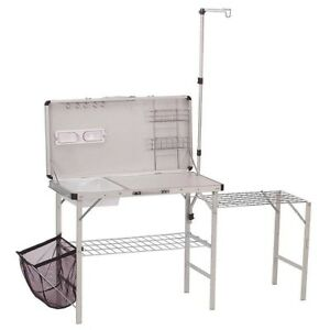 Coleman Aluminum Camping Outdoor Kitchen Prep Sink Table ... on Outdoor Sink With Stand id=56011