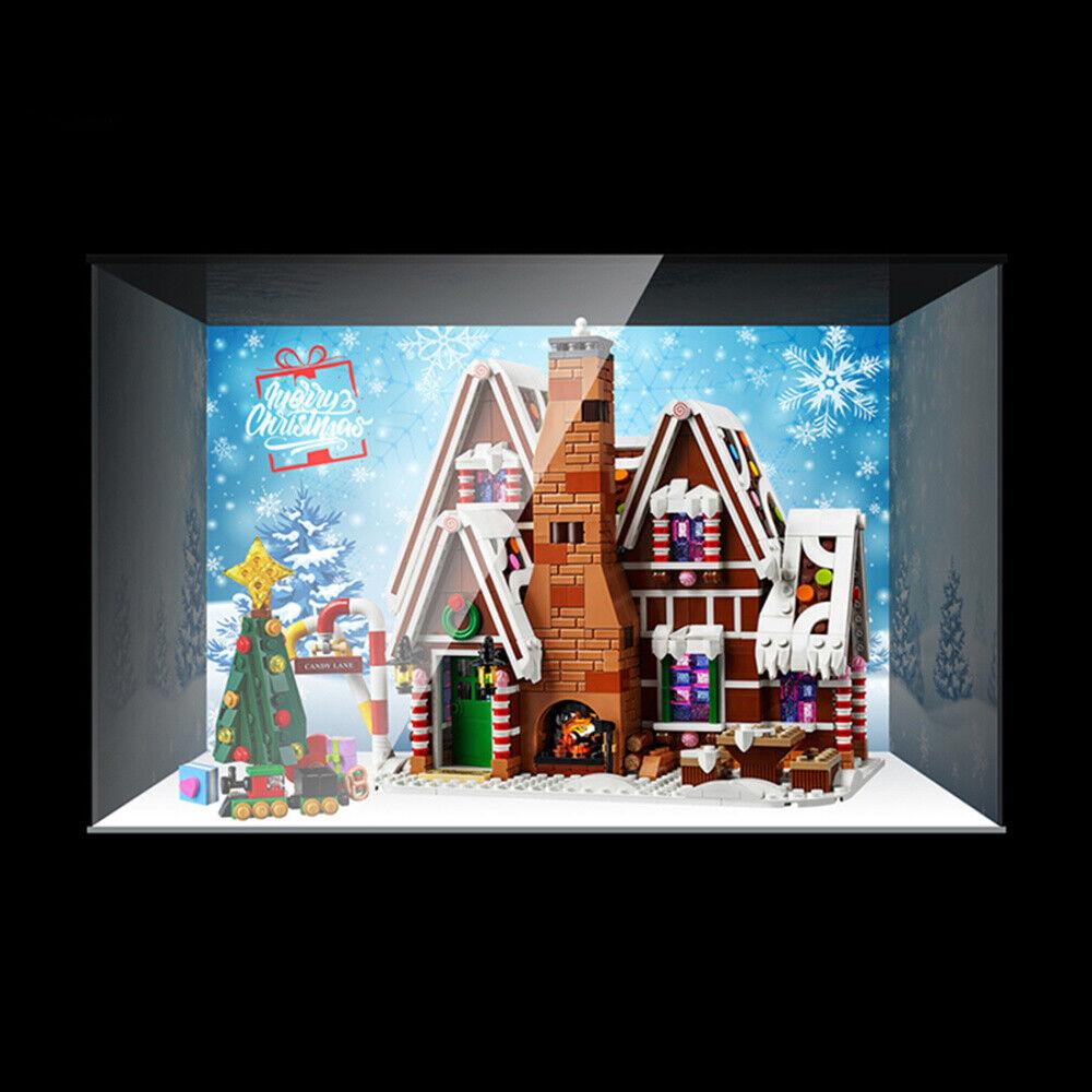 Baustein Acryl Staubdicht Vitrine Zubehör Kit für Lego Gingerbread House 10267