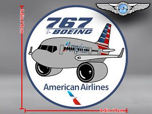 AMERICAN-AIRLINES-AA-BOEING-B767-B-767-PUDGY-DECAL-STICKER