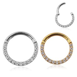 Daith Hoop Septum Hoop Septum Ring Daith Piercing Implant Grade Daith Earring Septum Jewelry Opal Septum Clicker Hoop Titanium